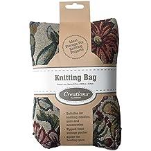 Bolsa de motivos florales para guardar la lana de Korbond