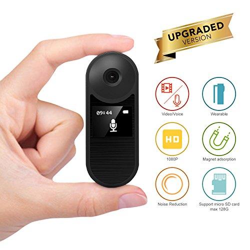 Konesky Grabadora HD, Cámara Espía Oculta Grabadora 1080P Reunión Grabación de Voz Video Grabadora de Audio Videocámara Support Grabación de Ruido Grabación de Bucle