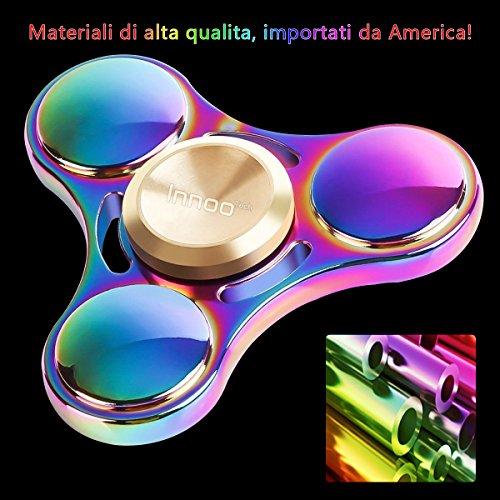 Fidget Spinner Hand Spinner InnooTech Tri Fidget Mano Spinner Colorato 3-6 Minuti Antistress Ridurre Ansia