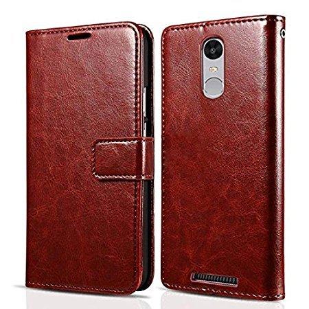 Badhiyadeal Premium Quality Luxury Flip video Stand flip Case Cover For Xiaomi Redmi note 3