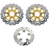 TARAZON Rotores de discos de freno delanteros y trasero para Suzuki GSXR 1000 2001 2002 TL1000 R S 1997-2003