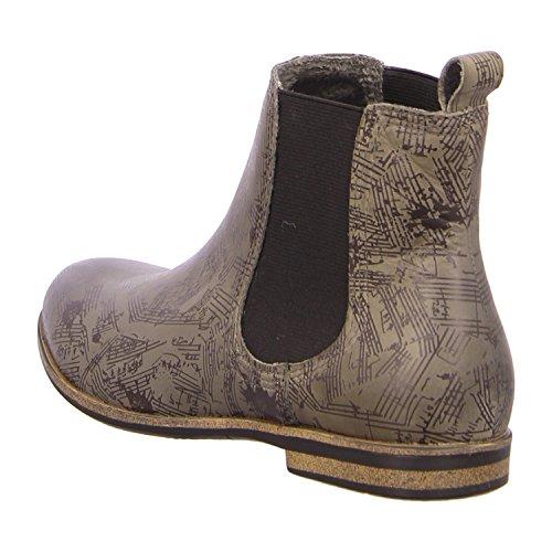 Laufsteg München HW150203A Damen Chelsea Boots Grau (asphalt antik print)