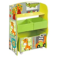 Liberty House Toys TF4821 Kid Safari Storage Box and Fabric Bin