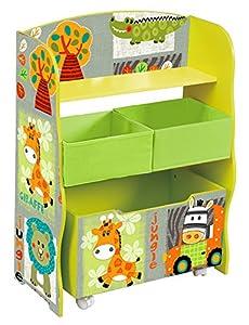 Liberty House Toys-tf4821Kid Safari Caja de Almacenamiento y Papelera de Tela
