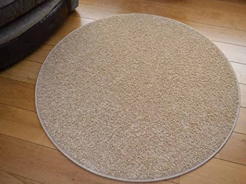 Cargo Circular Suede Shaggy Pile Rug. Available in 5 Sizes (100cm Diameter (Circle))