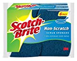 3M 526 No Scratch Multi-Purpose Scrub Schwamm, 4 2/5 x 2 3/5'', Blau, 6/Pack