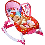 Toyshine Newborn to Toddler Vibrating Rocker Chair with Adjustable Mode (Pink)
