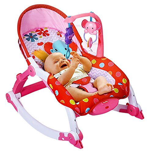 Toyshine Newborn to Toddler Vibrating Rocker Chair with Adjustable Mode (Pink)