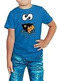 Kostüm Krümelmonster Premium T-Shirt | Verkleidung | Karneval | Fasching | Kinder | Shirt, Farbe:Royalblau (Royalblue L190k);Größe:6 Jahre (106-116 cm)