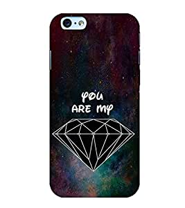 Fuson Designer Back Case Cover for Apple iPhone 6S (diamond Galaxy Shiny bright Shining)