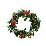 HG® Girlande künstliche Tannengirlande 100 energiesparenden LEDs Warmweiß Weihnachten Beleuchtung für In-/ Outdoor Bereich PVC Beleuchtet Kunststoff Zweige