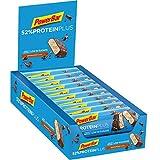 PowerBar Protein Plus 52% Barre Riche en Protéines Faible en Sucre Chocolat Noix 20 x 50 g