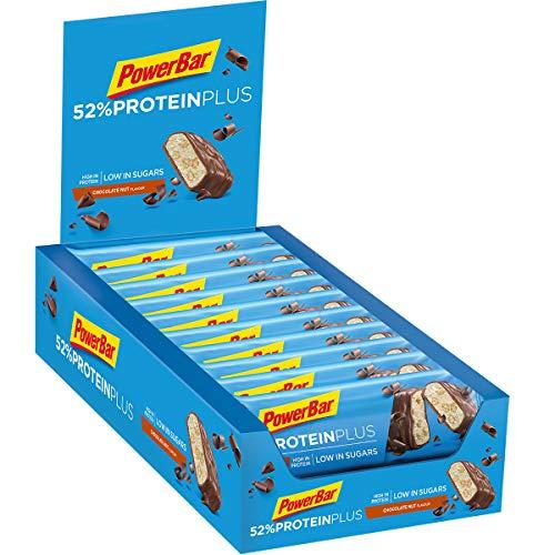 PowerBar 52% Riegel mit Whey und Sojaprotein - Low Sugar Eiweiß-Riegel, Chocolate Nut (20 x 50g) -