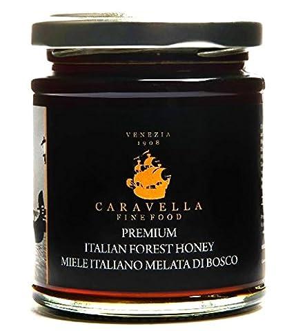 "Caravella Premium ITALIAN ""MELATA"" FOREST DARK HONEY Raw Organic Wild Harvest 250 g directly from VENICE (250 g net weight)"