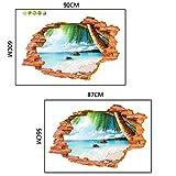 Pared 3D Rota Playa,Pegatina De Pared Vinilo Adhesivo Decorativo Para Cuartos, Dormitorio,Cuartos De Juegos .Frase Mi Hogar Familia,