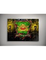 """Blason Myanmar, Poster Auto-adhésif Affiche Papier Murale Pop-Art Décoration Intérieure Reproduction Peinture avec Dessin Coloré. Grandeur: 18"""" x 24"""" - 46 x 61 cm"""