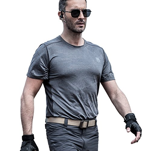 Blau Kurzarm-tactical Shirt (FREE SOLDIER Taktisch T-Shirt Atmungsaktives Schnell trocknend Elastisch Rundhals Kurzarm T-Shirt (XL blau))