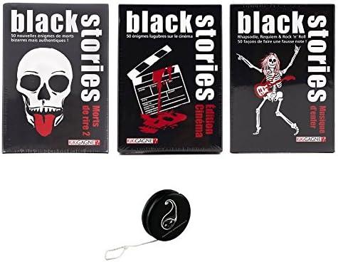 1c43e1fe100f Lot de 3 Jeux Black Stories Stories Black de KIKIGAGNE   Morts de Rire 2 +