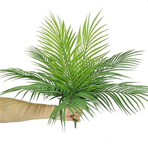 50cm Kunstpflanze Palm Bäume Greenery Faux Palm Blätter Künstliche Pflanzen Blatt für Home Party Dekorationen