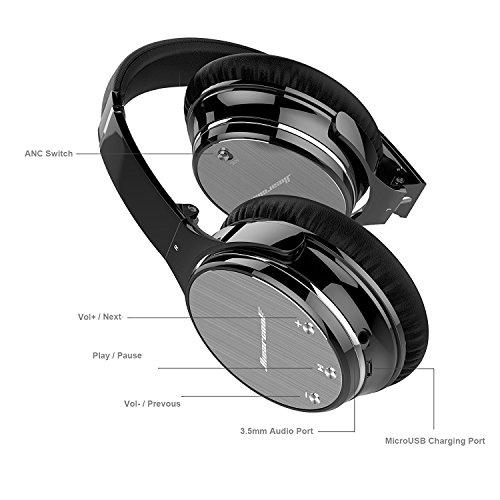 Auriculares Diadema Bluetooth Cancelación Ruido Activa Inalámbricos LinkWitz Hiearcool Con Micrófono y Control de Volumen para Todos Los Dispositivos