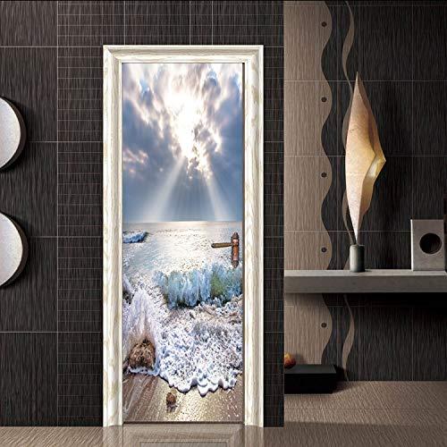 LJIEI Türtapete selbstklebend TürPoster Sprühen Sie Dekorative Aufkleber Der Kreativen Hauptmode Der Türaufkleber Kreative (90X200)