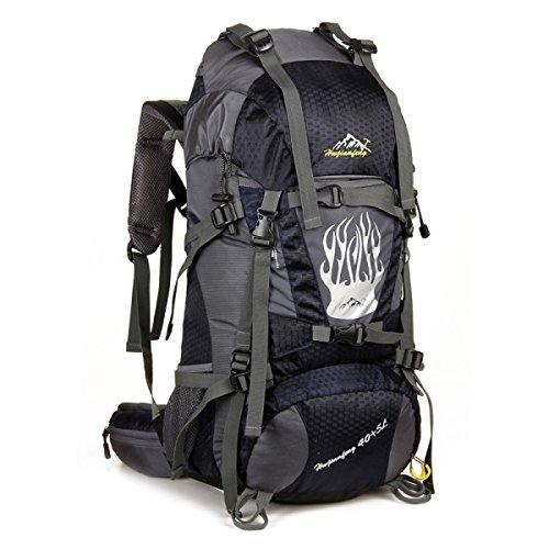Professionelle Bergsteigen Tasche Im Freien Rucksack Für Camping Wandern 45L Black