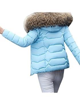 Bluestercool Cappotto Donna Invernali Con Cappuccio Eleganti Giacca Pelliccia