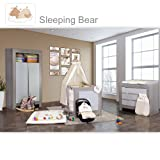 Babyzimmer Felix in akaziengrau 10 tlg. mit 2 türigem Kl. + Sleeping Bear beige
