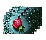 meSleep Red Rose Table Mats