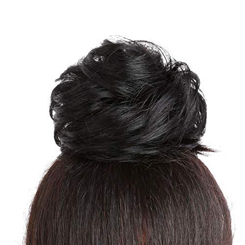 Hair Bun Extensions Welliges lockiges Haar Chignons Haarteil Haarteil Haarband Pferdeschwanz Extensions Welliges Gelockt,1 -