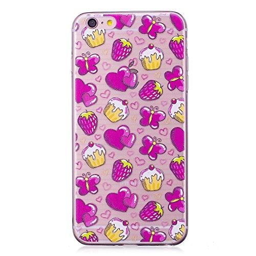 Meet de iPhone 6 Plus / 6s Plus Coque Antidérapant Transparent TPU Silicone Gel Housse Étui Protecteur Cover Case Souple Ultra Mince pour iPhone 6 Plus / 6s Plus-Candy amour Candy amour