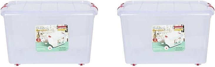 Aristo Multipurpose Storage Container Box 45 Ltr (Pack Of 2)