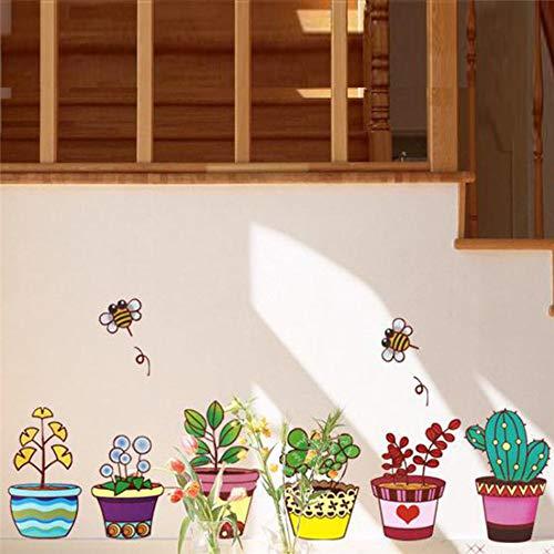 umentopf Baseboard Biene Wandkunst Aufkleber Küche Zimmer Dekorationen DIY PVC Aufkleber Kinder Geschenk 30x130cm ()