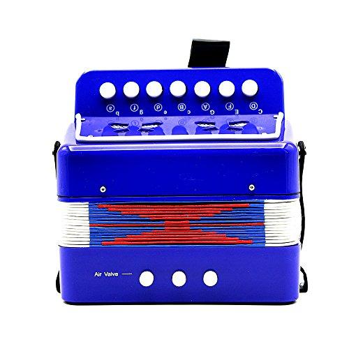 Andoer 7-Key 2 Basse Mini Petit Accordéon éducation Musicale Instrument Rhythm Band Toy pour Enfants