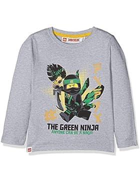 Lego Ninjago Kinder Jungen Langarmshirt Gr.104-140 Pullover Shirt langarm neu!, Größe:104, Farbe:hellgrau