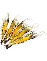 TOOGOO(R) 5 PIeCES 9cm souple et leger leurre de Peche Simulation crevettes Bait odeur de poisson
