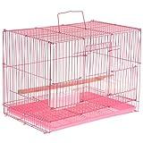 perfk Cage Oiseaux avec Support Sac de Transport Portable Jouet Cage d'oiseaux Hamster - 38.5x27.8x30cm