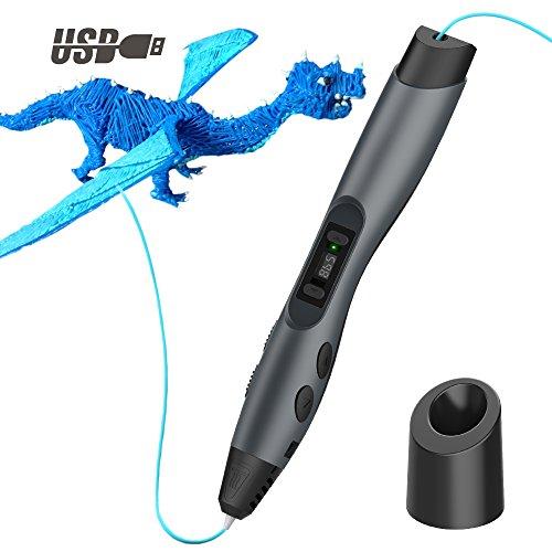 Tecboss 3D Stift, 3D Drucker Stifte mit LCD Anzeige, 8 Einstellbare...
