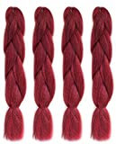 American Dream Premium Kanekalon Braid für Haarwebart, Dreads & Avant Garde Kreatives Styling - 4er Pack (4 x 1 Stück) - Farbe M-1B/F20