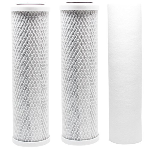 Replacement Filter Kit for Watts WP-4V RO System - Includes Carbon Block Filters & Polypropylene Sediment Filter - Denali Pure Brand by Denali Pure