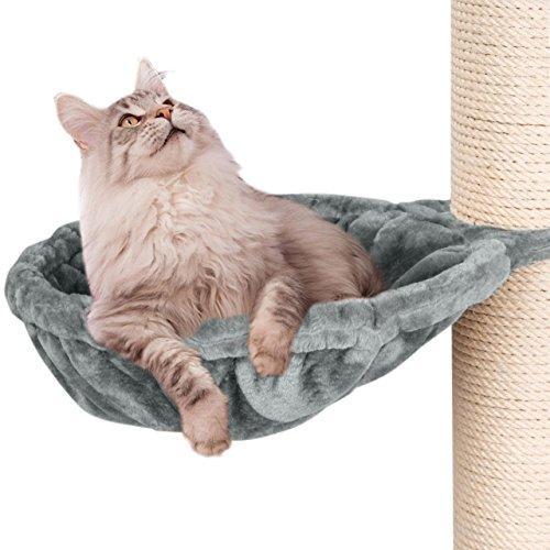 Happypet Liegemulden für XXL Kratzbaum Schlafmulde Zubehör für große Katzen (Maine Coon) Ø 45cm GRAU