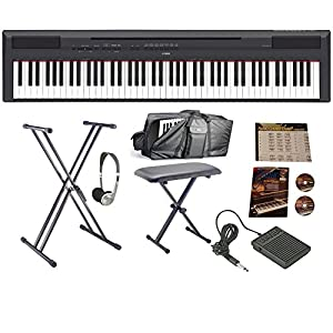 Yamaha P115 Black Digital Piano Mega Bundle