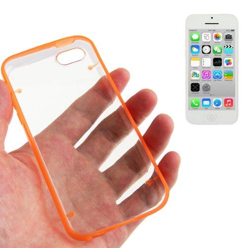 """iPhone 5C coque/Case/Cover in orange avec panneau arrière transparent en polycarbonate de qualité style """"de Bumper Case-Original seulement de thesmartguard"""