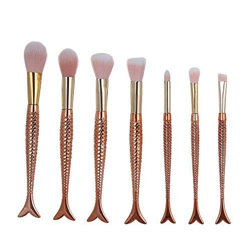 DaySing Brosse Makeup Brushes,Professionnelle Kits ,7 Pinceaux De Maquillage Set Professionnel Visage Ombre à PaupièRes Eyeliner Foundation Blush Makeup Brushes Brush Beauté Maquillage