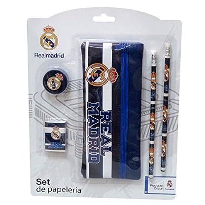 REAL MADRID Set de papeleria con estuche portatodo