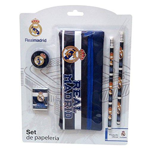 Real Madrid GS-506-RM Set de Papelería con Portatodo