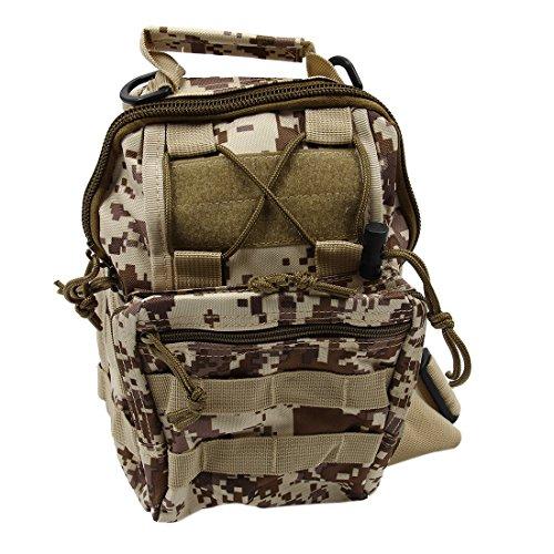 Imagen de bolso de bandolera  sodial r bolso de bandolera de hombro de camping, bolso de bandolera tactico  de bicicletas de sola correa  de senderism desierto digital