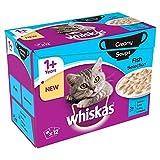 Whiskas 1+ Katze Beutel Cremige Suppe Fisch 12 X 85G (Packung mit 2)