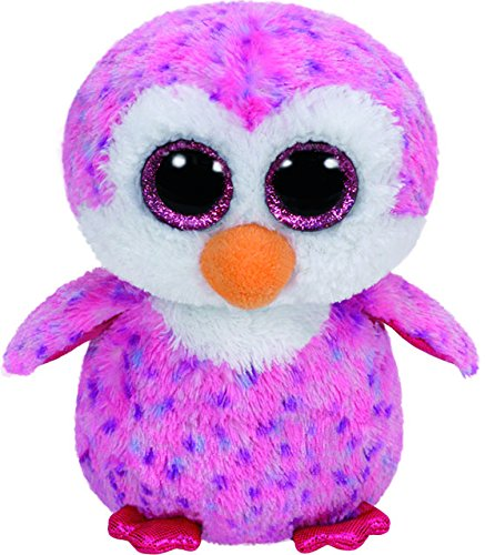 Ty   Beanie Boos Glider, pingüino, 15 cm, Color Rosa (United Labels Ibérica 36177TY)