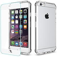 """Funda iPhone 6s / 6, Yokase Carcasa iPhone 6/6s con [Protector de Pantalla de Vidrio Templado] Suave TPU Dura PC Anti-Rasguños Delgado Funda iPhone 6s Transparente para iPhone 6/6s 4.7"""" - Transparente"""